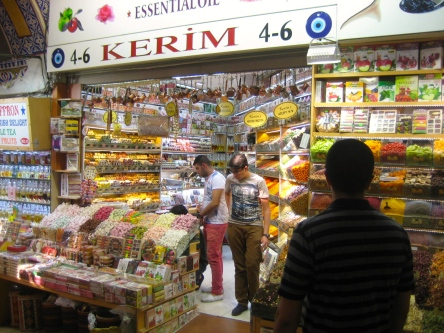 Grand Bazaar - spices and turkish delight for days.