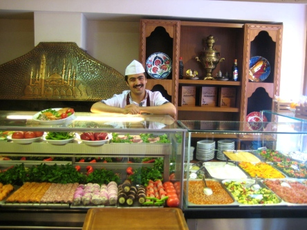 Chef at a typical Turkish Cafeteria
